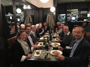 Nuclear-21 experts and guests in October 2016. Hubert Bairiot is seated on the right hand side of the table, third from the front.